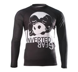 [인버티드 기어] INVERTED GEAR - Long Sleeve Ranked Rash guard [Black]