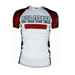 [주짓수도복]  불테리어 래쉬가드 - BULLTERRIER Rashguard PANEL short Sleeve WHITE