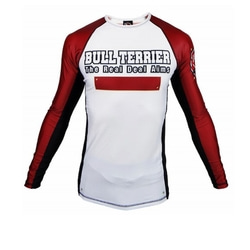 [주짓수도복]  불테리어 래쉬가드 - BULLTERRIER Rashguard PANEL Long Sleeve White