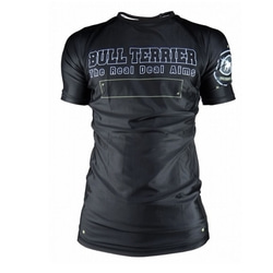 [주짓수도복]  불테리어 래쉬가드 - BULLTERRIER Rashguard PANEL short Sleeve BLACK