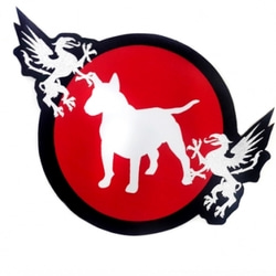 BULLTERRIER Jiu Jitsu Patch Diecut_red