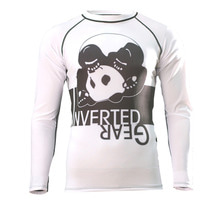 [인버티드 기어] INVERTED GEAR - Long Sleeve Ranked Rash guard [White]