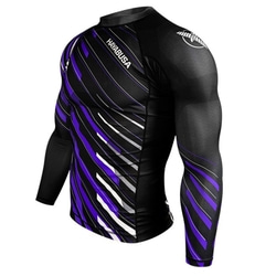 래쉬가드 -METARU CHARGED LONGSLEEVE RASH GUARD - black/purple