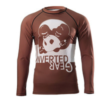[인버티드 기어]  INVERTED GEAR - Long Sleeve Ranked Rash guard [Brown]
